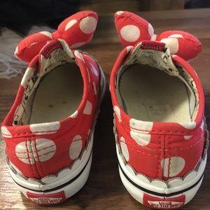 Vans Shoes - Van's X Minnie bow sneakers 2T
